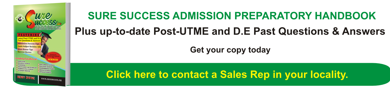 SureSuccess Post-UTME & Direct Entry Past Questions & Answers